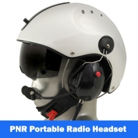 Icaro Pro Copter Aviation Helmet with Tiger Portable Radio Headset