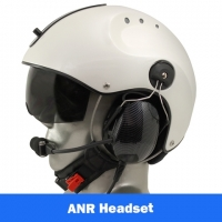 Icaro Pro Copter EMS/SAR Aviation Helmet with Tiger ANR Headset with Panel Power Cord
