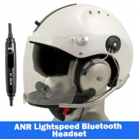 Icaro Rollbar Plus Aviation Helmet with Lightspeed Zulu 3 Headset