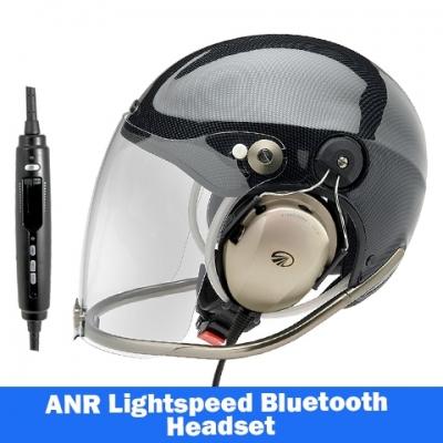 cff5e1a82c3 Icaro Rollbar Aviation Helmet with Lightspeed Zulu 3 Headset | Tiger ...