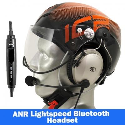 20b9cd9f3c8 Icaro Solar X Aviation Helmet with Lightspeed Zulu 3 Headset | Tiger ...