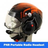 Icaro Solar X Aviation Helmet with Tiger Portable Radio Headset