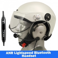 Icaro Scarab Aviation Helmet with Lightspeed Zulu 3 Headset