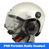 Icaro Scarab Aviation Helmet with Tiger Portable Radio Headset
