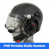 Icaro TZ Aviation Helmet with Tiger Portable Radio Headset