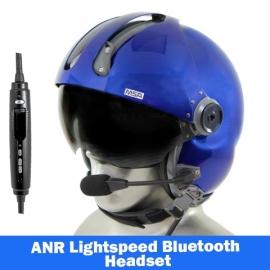 MSA Gallet LH250 Flight Helmet - Lightspeed Zulu H-Mod Communications