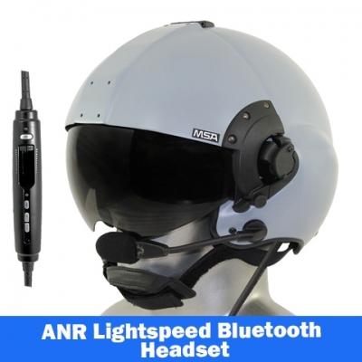 51b4c9ae0b MSA Gallet LH350 Flight Helmet - Lightspeed Zulu H-Mod Communications