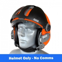 MSA Gallet LA100 Flight Helmet with Oxygen Mask - Orange Flourescent