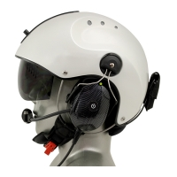 Tiger Active Noise Reduction (ANR) EMS/SAR Aviation Headset with 9V Helmet Mounted Battery Pouch