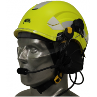 Petzl Vertex EMS/SAR Aviation Helmet with 3M Peltor ComTac V/Swatac V PNR Tactical Hear Thru Headset