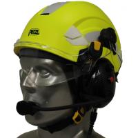 Petzl Vertex Aviation Helmet with Tiger Portable Radio Headset with Bluetooth