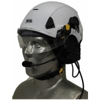 Petzl Strato Aviation Helmet with 3M Peltor ComTac V/Swatac V PNR Tactical Hear Thru Portable Radio Headset
