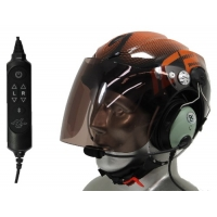 Icaro Solar X Aviation Helmet with David Clark ONE-X Communications