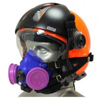 Tiger 8500 Helmet Snap On Half Respirator Filter Mask - P100 Filters & Communications