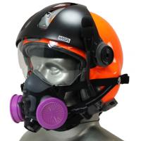 Tiger 5500 Helmet Snap On Half Respirator Filter Mask - P100 Filters & Communications