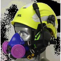 Tiger 8500 Helmet Mounted Headset Snap On Half Respirator Filter Mask & Communications