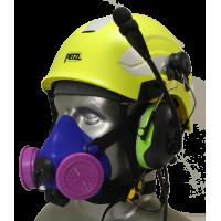 Tiger 8500 Helmet Mounted Headset Adjustable Half Respirator Filter Mask with Headband & Communications