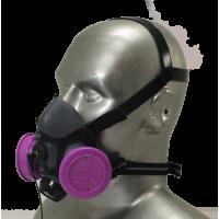 Tiger 5500 Helmet Adjustable Half Respirator Filter Mask with Headband - P100 Filters & Communications