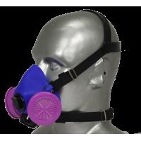 Tiger 8500 Helmet Adjustable Half Respirator Filter Mask with Headband - P100 Filters & Communications