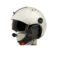 Icaro Pro Copter Aviation Helmet with ComTac V/Swatac V Tactical PNR Portable Radio Headset
