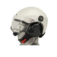Icaro Scarab Aviation Helmet with ComTac V/Swatac V Tactical PNR Portable Radio Headset