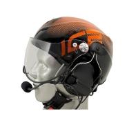 Icaro Solar X Aviation Helmet with ComTac V/Swatac V PNR Tactical Hear Thru Headset