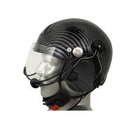 Icaro TZ Aviation Helmet with ComTac V/Swatac V Tactical PNR Portable Radio Headset