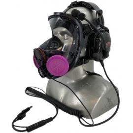 Honeywell NIOSH Approved 7600 Full Facepiece Respirator Filter Mask with Headband - P100 Filters & Tiger External Microphone