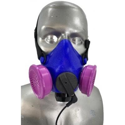Honeywell RU8500 Half Respirator Filter Mask Kit with Adjustable Headband - P100 Filters & Tiger External Microphone Assembly