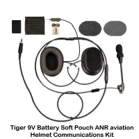 Tiger ANR Helmet Communications (with Helmet Mounted Soft Battery Pouch)