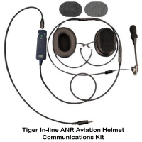 Tiger ANR Helmet Communications (with Inline Hand Controller)
