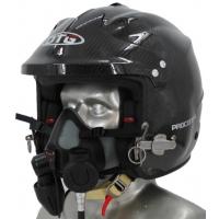 DTG Procomm 4 Marine Open Face Carbon Fiber Helmet with Tiger Communications (for Tiger mask use)