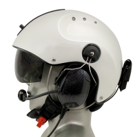 Icaro Pro Copter EMS/SAR Aviation Helmet with Tiger ANR Headset with 9V Helmet Mounted Battery Pouch