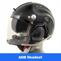 Icaro Rollbar Plus EMS/SAR Aviation Helmet with Tiger ANR Headset with 9V Helmet Mounted Battery Pouch