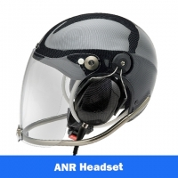 Icaro Rollbar EMS/SAR Aviation Helmet with Tiger ANR Headset with 9V Helmet Mounted Battery Pouch