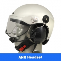 Icaro Scarab EMS/SAR Aviation Helmet with Tiger ANR Headset with 9V Helmet Mounted Battery Pouch