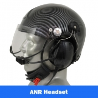 Icaro TZ EMS/SAR Aviation Helmet with Tiger ANR Headset with Panel Power Cord
