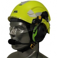Petzl Vertex EMS/SAR Aviation Helmet with Tiger ANR Headset with 9V Helmet Mounted Battery Pouch