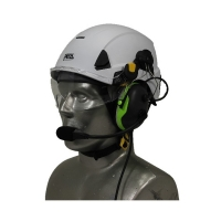 Petzl Strato EMS/SAR Aviation Helmet with Tiger ANR Headset with 9V Helmet Mounted Battery Pouch
