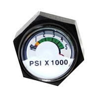 Mini High Pressure Gauge Black