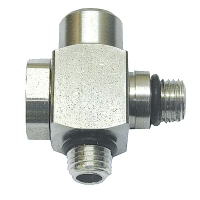 Custom 2 Port Inline Swivel Adapter