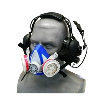 Agricultural Helmet or Headset Snap On Dust Respirator