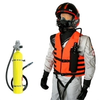 Vest Mounted Primary/Secondary Survival Breathing Air System Package for Mask Applications