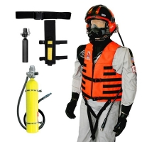 Leg Holster Mounted Primary/Secondary Survival Breathing Air System Package for Mask Applications