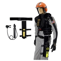 Leg Holster Mounted Survival Breathing Air System Package for Non-Scuba Mask Applications