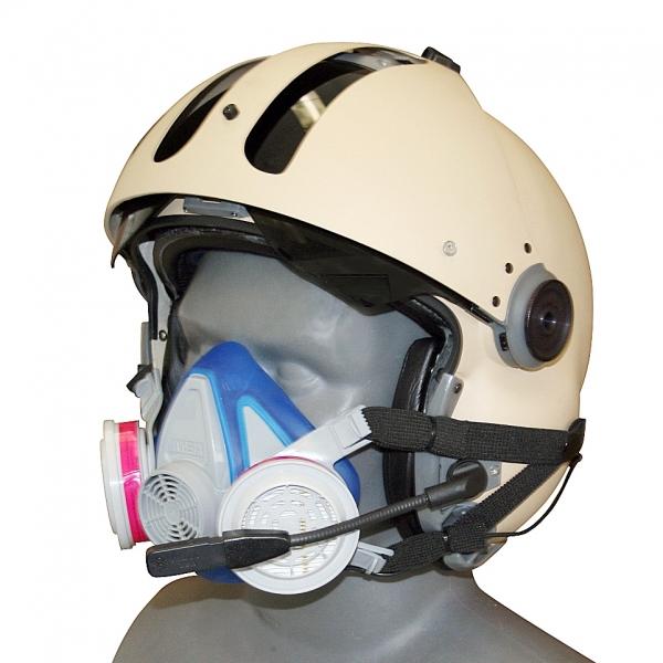 Agricultural Helmet/Headset Snap On Dust Respirator | Tiger
