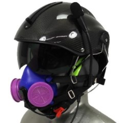Icaro Aviation Helmet with Respirator Mask