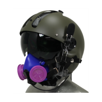 MSA Flight Helmet with Respirator